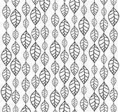 Hand drawn leaves backgrounds Stock Images