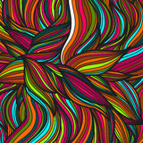 Hand drawn leaves pattern. Scetch of background with abstract shapes illustration. Royalty Free Stock Image