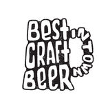 Hand drawn lettering best craft beer in glass. Stock Photography
