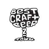 Hand drawn lettering best craft beer in glass. Royalty Free Stock Photo