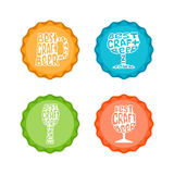 Hand drawn lettering craft beer badge in circle. Stock Image