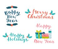 Merry Christmas, Happy New Year, Happy Holydays. Royalty Free Stock Photography