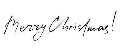 hand drawn lettering. Merry Christmas. vector  Stock Image