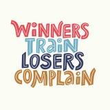 Winners Train Lettering