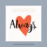 Always - hand drawn lettering Stock Image