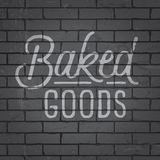 Hand drawn lettering slogan on brick wall background Royalty Free Stock Images