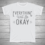 Hand drawn lettering slogan on t-shirt background Stock Images