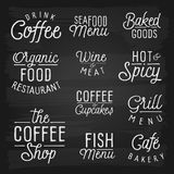Hand drawn lettering slogans for cafe and restaurant Royalty Free Stock Image