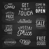 Hand drawn lettering slogans for retail Stock Photo