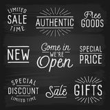 Hand drawn lettering slogans for retail Royalty Free Stock Images
