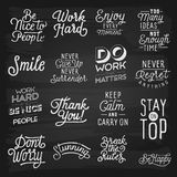 Hand drawn lettering slogans Stock Images