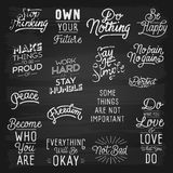 Hand drawn lettering slogans Royalty Free Stock Images