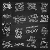 Hand drawn lettering slogans Royalty Free Stock Photography