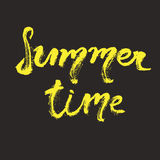 Hand drawn lettering - Summer time. Stock Photography