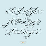 Hand drawn lettering. Hand drawn vector calligraphy tattoo style alphabet Stock Photos