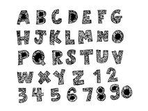 Hand drawn letters font Royalty Free Stock Photography