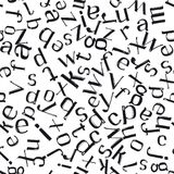 Hand drawn letters seamless pattern Royalty Free Stock Photos