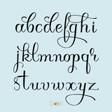 Hand drawn letters. Hand drawn vector calligraphy tattoo style alphabet Royalty Free Stock Images