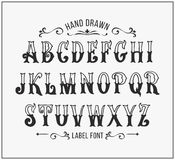 Hand drawn letters in Victorian style Stock Photography