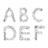 Hand drawn letters on white background Stock Photography