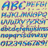 Hand drawn letters for your text Royalty Free Stock Photo