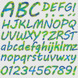 Hand drawn letters for your text. Royalty Free Stock Photography