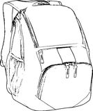 Hand Drawn Line Art Backpack Skecth /eps Royalty Free Stock Photos