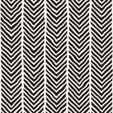 Hand drawn lines seamless grungy pattern. Abstract geometric repeating tile texture. In black and white Stock Image