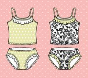 Hand drawn lingerie set. Royalty Free Stock Images
