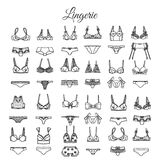 Hand drawn lingerie Vector underwear design. Royalty Free Stock Image