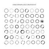 Hand drawn logo creation kit. Stock Images