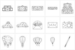 Hand Drawn Logo Elements And Icons Stock Photography