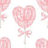 Hand drawn lollipop seamless Royalty Free Stock Photo