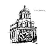 Hand drawn of London set. Stock Image