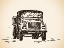 Hand drawn lorry car Royalty Free Stock Photography