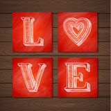 Hand Drawn Love Poster Royalty Free Stock Photo