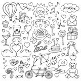 Hand drawn Love set Royalty Free Stock Photography