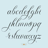 Hand drawn lowercase set. Hand drawn vector calligraphy tattoo style alphabet Stock Photos