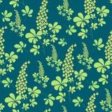 Vector seamless pattern, hand drawn botanical elements vector illustration
