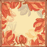 Hand drawn magnolia flowers frame Royalty Free Stock Image