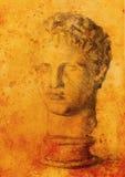 Hand drawn man head, Gypsum bust drawn. Rome Empire man. Royalty Free Stock Photography