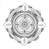 Hand-drawn mandala Royalty-vrije Stock Fotografie