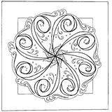 Hand-drawn mandala Stock Afbeeldingen