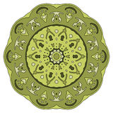 Hand drawn mandala. Colorful vector illustration  on white Stock Photos
