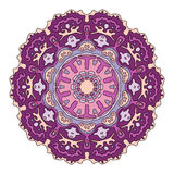 Hand drawn mandala. Colorful vector illustration  on white Stock Photo