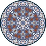 Hand-drawn mandala design. Concept image circle for card, yoga studio, meditation. Royalty Free Stock Image