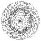 Hand-Drawn Mandala. These mandalas were fun to make. I hope you enjoy coloring them as much as I did making them Stock Photography