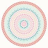 Hand drawn mandala ornament. Geometric pattern. Line border frame design element. Doodles. Vector illustration Stock Photo