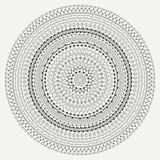Hand drawn mandala ornament. Geometric pattern. Line border frame design element. Doodles. Vector illustration Stock Image