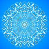 Hand Drawn Mandala Ornament Sketch Mockup vector background Royalty Free Stock Photos